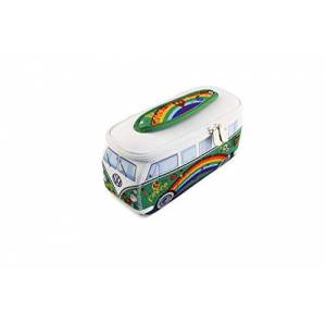 BUNE53 BRISA VW Collection Volkswagen VW T1 Bus Transporter 3D Neopreen Kleine Universele Zak Peace/Groen