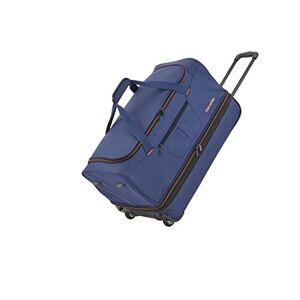 096275-20 travelite Trolley reistas met 2 wielen, met rekvouw, bagage-serie BASICS: zachte bagage reistas met wielen met extra veel volume, marine/oranje, Trolley Reisetasche S erw. (55 cm), Reisbagage