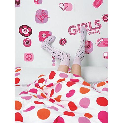 Komar 17006h Deco-sticker Girls only, kleurrijk, 50 x 70 cm, muurtattoo, muurschildering, muursticker, muursticker, muursticker