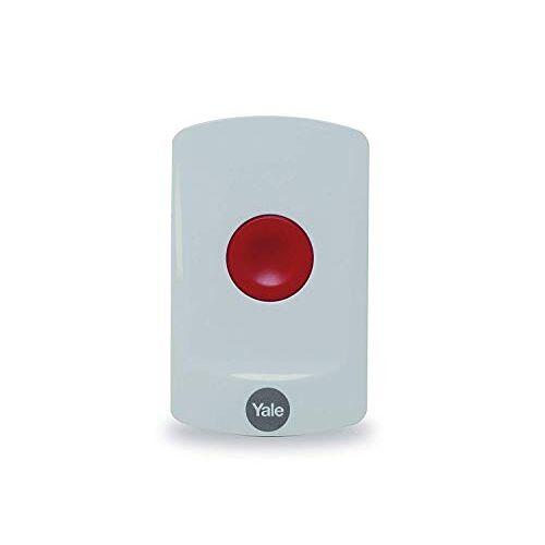 Yale AC-PB Sync Smart Home Alarm Accessoire Paniekknop, wit, doe-het-zelf vriendelijk, accessoire voor IA Alarmen, voor Alarmactivering