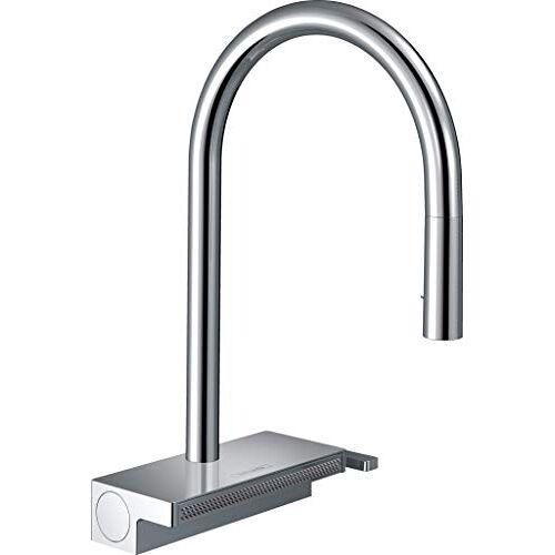 Hansgrohe Keukenkraan Aquno Select M81 (kraan keuken met afvoerzeef, 360 draaibaar, uittrekbare douche, hoge comfortuitloop 170 mm, 3 straalsoorten, standaardaansluitingen) chroom