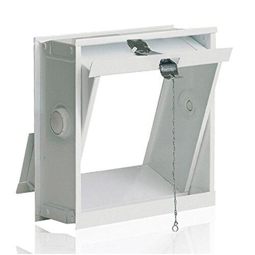 Fuchs Design FUCHS Klapraam Wit in plaats van 1 Glasblok 19x19x8 cm inclusief trekapparaat