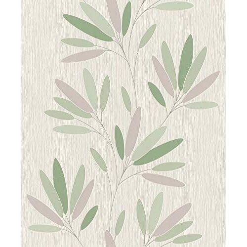 Rasch behang vliesbehang (floral) wit 10,05 m x 0,53 m behang verwisselen 808735 behang