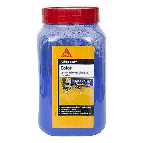 SIKA cim Color 73598 Kleurstoffen in poedervorm voor cement, kalk en gips, blauw
