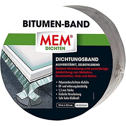 MEM Bitumenband aluminium 7,5 cm x 10 m