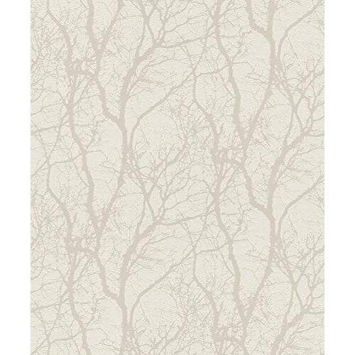 Rasch behang vliesbehang (floral) wit 10,05 m x 0,53 m behang verwisselen 633252 behang