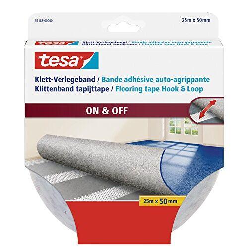 tesa Velcro tape voor tapijten, 25 m x 50 mm