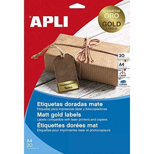 Agipa 15025 etiketten, 38,1 x 21,2 mm, goud
