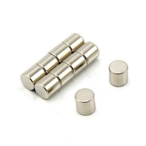 first4magnets F418-10 diameter dikker N42-neodymium-magneet 2,5 kg aantrekkingskracht (1 stuks), nikkel, diameter x 8 mm, 10 stuks