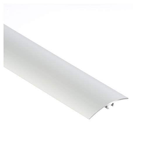 CEZAR Aluminium deurdrempel   Overgangsprofiel   Beschermstrip   Overgangsrail met bevestigingspinnen   40 x 1000 mm   Zilver