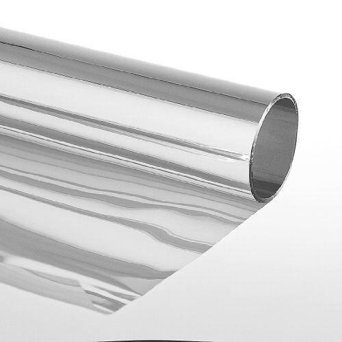 "Folien-Gigant Zonwerende folie""Extrem"" zelfklevend met spiegeleffect raamfolie getinte folie beschermfolie zilver,75 x 600 cm, zilver"