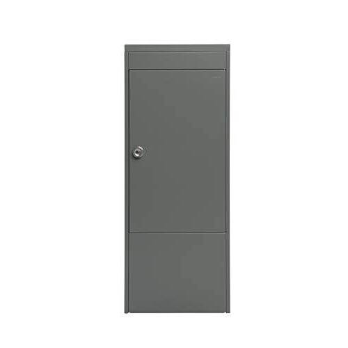 Renz 483021M MEFA pakketbrievenbus (zonder brievenbus) Balsa 483 – kleur grijs, brievenbus met slot, 1032 x 410 x 310 mm