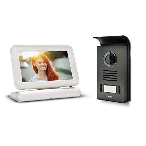 EXTEL 720278 plantenstandaard videointercom met kleurendisplay, 5 V, wit