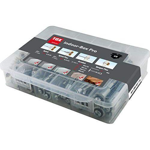 TOX Holle pluggen assortiment Indoor Box Pro 68-delig, set voor bevestigingen in gipskarton of gipsvezelplaten, incl. bijpassende schroeven, 094901119