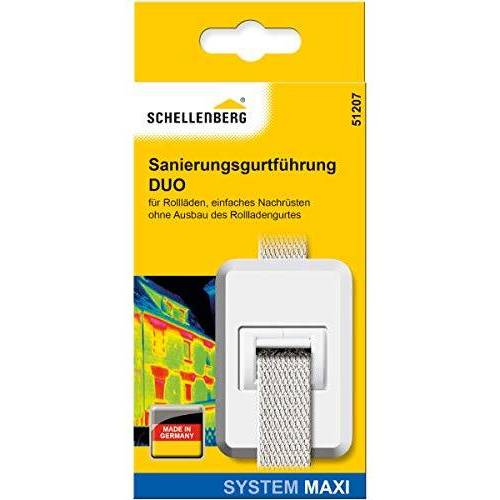 Schellenberg DUO Maxi 51207 saneringsgordelgeleiding voor rolluikriemen met tochtafdichting, saneringsgordelgeleiding
