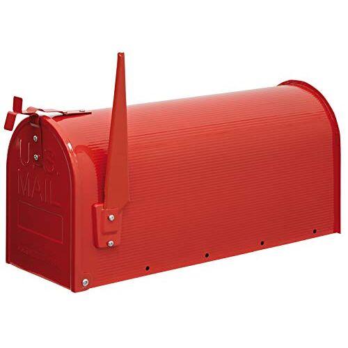 ARREGUI Mail D-USA/R Individuele brievenbus van staal in Amerikaanse stijl, maat L (C4 cijferbladen en enveloppen), rood, 22 x 48 x 17 cm