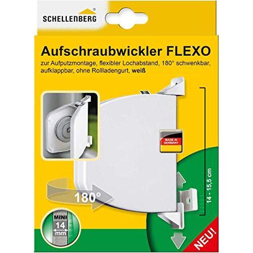 Schellenberg 50153 Flexo opschroefwikkelaar, openklapbaar, 180 draaibaar, riembandsysteem MINI, riembreedte 14-15 mm, gatafstand 14-15,5 cm (verstelbaar)