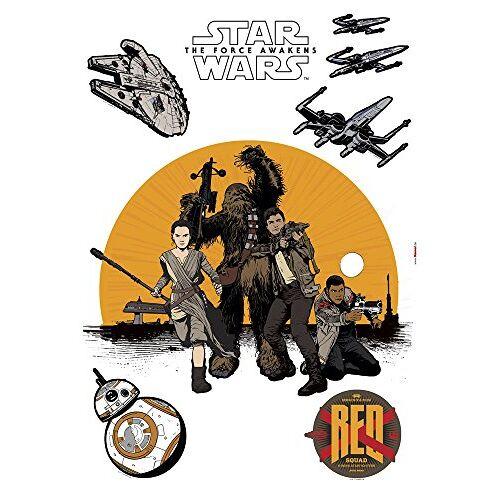 Komar Star Wars Deco-sticker RESISTANCE 50 x 70 cm Muurtattoo, Muursticker, Muursticker, Muursticker, Rebellen, Rey, Jedi, BB-8, Galaxy 14025h, Geel / Zwart