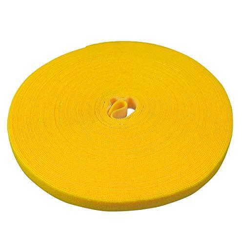 Label-the-cable Kabelbeheerbanden Tape, verstelbare, her-bruikbare/kabel nette/haak en lus koord Organizer, draadbeheer/PRO ROLL BAND, 25m x 16mm, geel, PRO 1240