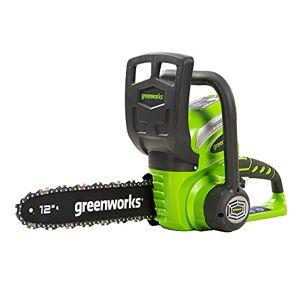 Greenworks Tools Greenworks accu kettingzaag G40CS30 (Li-Ion 40V 4,2 m/s kettingsnelheid 30cm zwaardlengte 120ml olietankinhoud rondom zonder accu en lader)