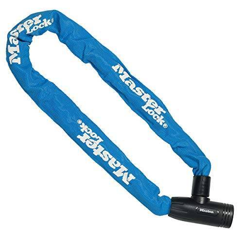 Master Lock Fietskettingslot [Sleutel] [90 cm Ketting][Blauw] 8391EURDPROCOLB voor Stadsfiets, Elektrische fiets, MTB, Racefiets, Vouwfiets
