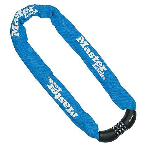 Master Lock Fietsketting [Combinatieslot] [90 cm Ketting] [Blauw] 8392EURDPROCOLB voor Stadsfiets, Elektrische fiets, MTB, Racefiets, Vouwfiets