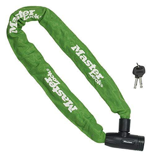 Master Lock Fietskettingslot [Sleutel] [90 cm Ketting][Groen] 8391EURDPROCOLG voor Stadsfiets, Elektrische fiets, MTB, Racefiets, Vouwfiets