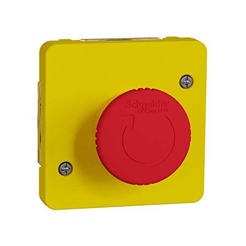 Schneider Electric Mureva Styl Noodstop, 1/4 omwenteling, IP55, IK08, geel
