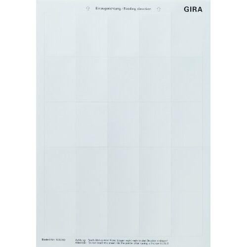 Gira 109000 etiketteringsblad accessoires, 38 x 54 mm