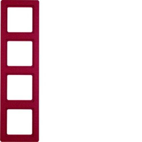 Hager Q.1 – frame 4 elementen rood.