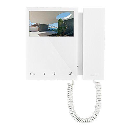 Comelit 6701W videofoon met mini-kleurenmonitor en hoorn, Simplebus-Top System, wit