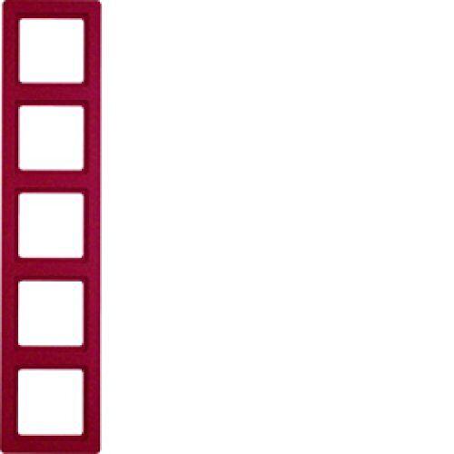 Hager Q.1 – Frame 5 Elementen Rood