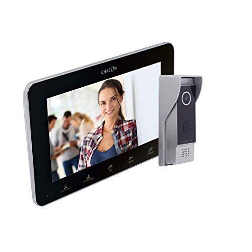 CHACON Video Deurtelefoon 2 Draden + Zwart scherm Internet Optie
