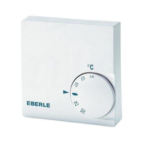 Eberle Controls 11110251100 kamertemperatuurregelaar RTR-E 6124 (voor wandbevestiging, voor centrale, warmwatervloeren, elektrische kachels enz, 1 opener)
