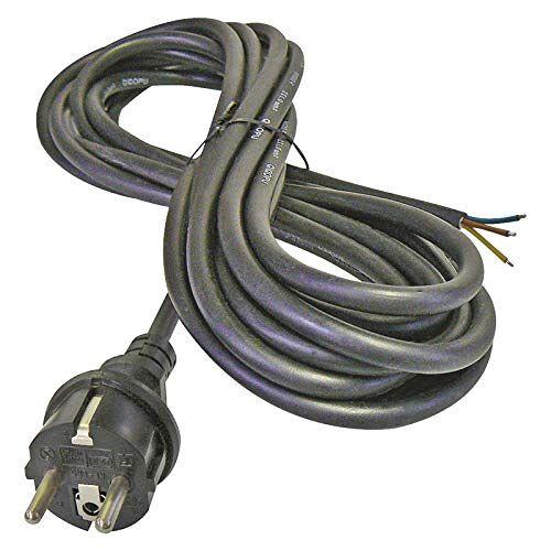 EMOS SY 11 strijkijzer-aansluitkabel, 1 x 3 m/voedingskabel/aansluitkabel/strijkijzerkabel van rubber, 3 x 2,5 mm, H05RR-F, zwart
