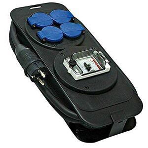 Brennenstuhl 1152301 Console Power Strip met differentiële bescherming 30 mA IP44 + 4 stopcontacten met kleppen 2P + T 16 A/230 V 5 m H07RN-F 3G2.5