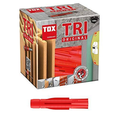 TOX Multifunctionele pluggen Tri 7 x 51 mm, pluggen voor bijna alle bouwmaterialen, 100 stuks, 010100091