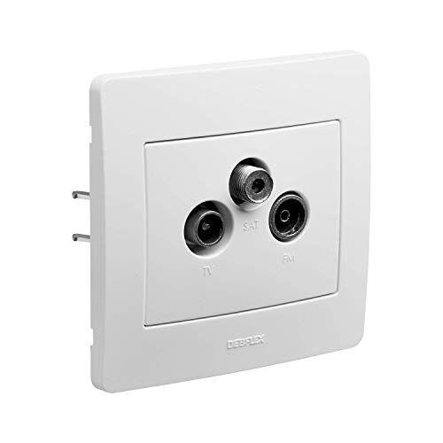 DEBFLEX Inbouwapparaat serie diameter 2 TV-stekker, wit