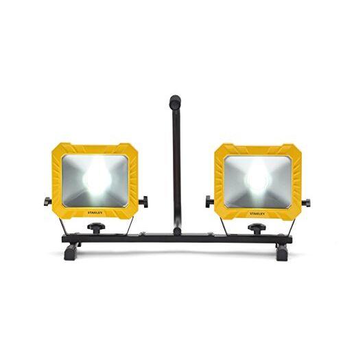 Stanley 31332 LED bouwspots, 2 x 33 W, 4000 lumen, geel en zwart