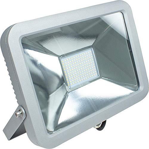 as - Schwabe as Schwabe Slimline chip werklamp 80 W professionele bouwspots geschikt als werkplaatsspot mobiele LED-lamp voor binnen- en buitenverlichting IP65 zilver I 46480, 230 V