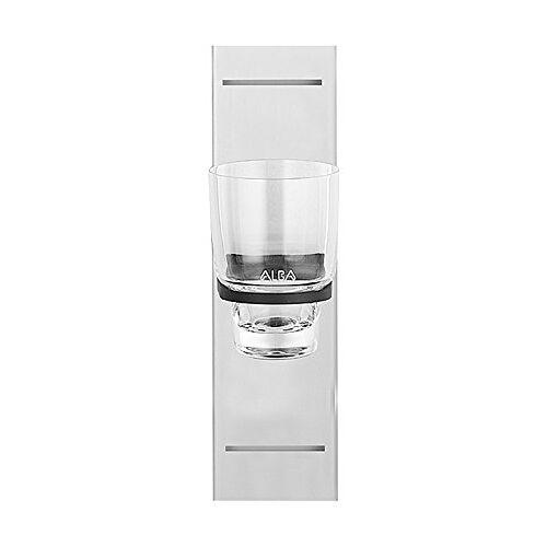 Sanitop-Wingenroth 08552 6 Alba Line glashouder met glas, wit