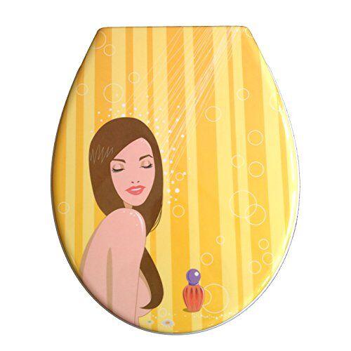 ADOB design wc-bril douche wc-deksel wc-deksel wc-deksel van duroplast, softclose, afneembaar voor reiniging, 59881