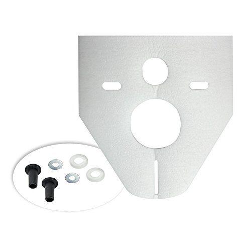 Otto Haas 7440 Geluidsisolatie-geluidsisolatieset voor wandtoilet, bidet standaard, 4 mm, wit