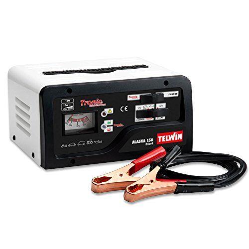 Telwin Elements ALASKA 150 START autoacculader en startapparaat voor 12V-batterijen, laadstroom tot 15 A, startstroom 50-100 A, capaciteit tot 200 Ah