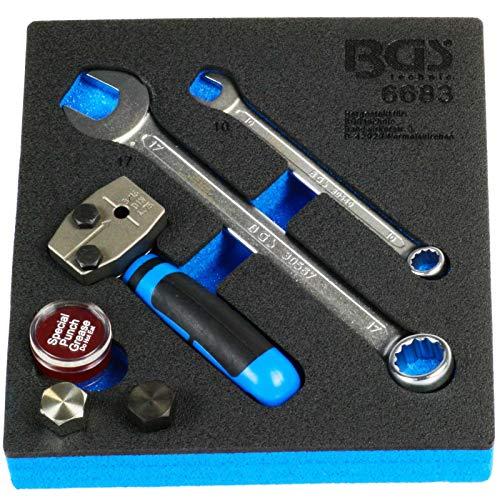 """BGS 6683   Werkplaatswageninleg 1/6: felsapparaat   DIN 4,75 mm (3/16"""")   voor remleidingen   fels"""
