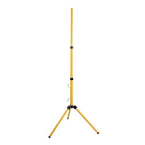 as - Schwabe as Schwabe Statief voor led-spots, halogeen-spots, statief zonder traverse geschikt voor de houder van bouwspots, werklampen en schijnwerpers, standaard in hoogte verstelbaar tot 1,80 m, geel