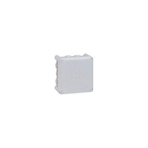 Legrand LEG94523 verdeeldoos, vierkant, 130 x 130 x 74 mm, 1/4 omwenteling, grijs