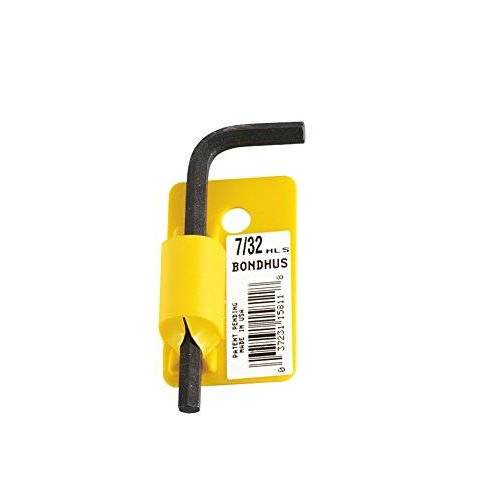 Starrett 15818 hoeksleutel, kort, met afkanting, met barcode, geel