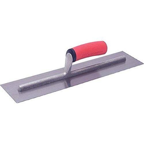Marshalltown vlakspaan met softgrip handvat van koolstofstaal, vlakspaan voor beton en grond, afmetingen van de spaan: 406x102 mm