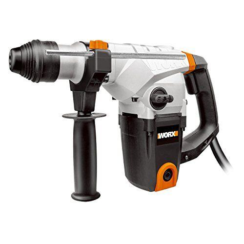 Worx WX333 klopboorhamer 1250 W voor hamerboren, boren en beitelen – krachtige SDS plus hamerboor met antivibratiehandgreep – 5 joule enkele slagkracht